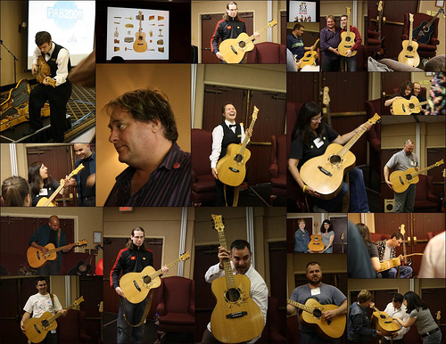Photo collage of the Six String Nation Guitar by Alexa Clarke